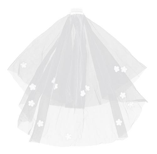 Imagen 1 de 8 de 1 Pieza Elegante Blanco Romántico Tocado De Novia