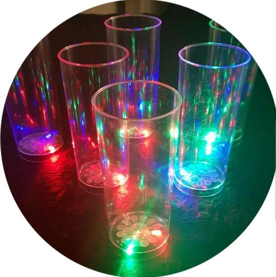 10 Vasos Trago Largo Luminosos Luz Led ! Fiestas , 15 Años