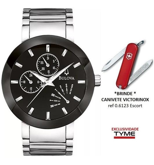 Relógio Bulova Masculino Wb22195t / 96c105 + Brinde C/ Nf