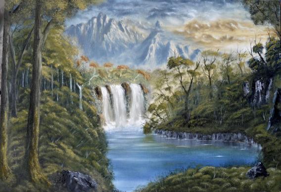 Obra De Arte Original Cuadro Pintura Paisaje Oleo Francolino
