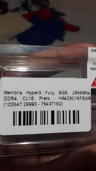 Memória Hiperx 8gb Mhz 2666
