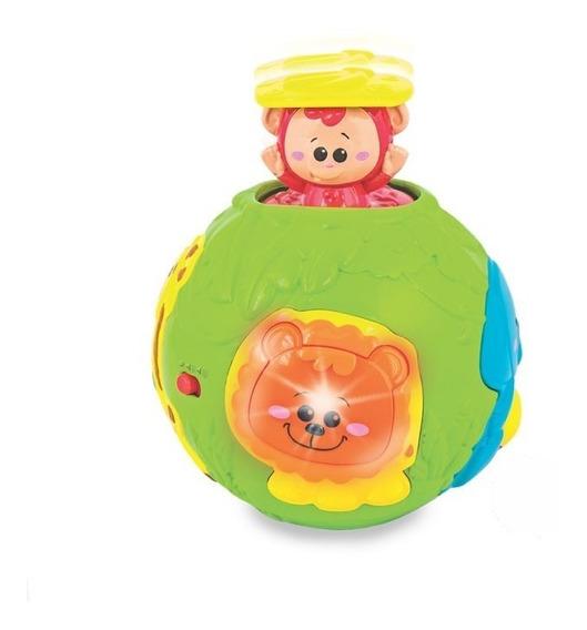 Bola Divertida Amiguinhos Da Selva Luz E Som Yes Toys