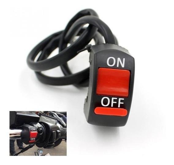Botão Interruptor On Off Farol Auxiliar Milha Moto Honda Bmw