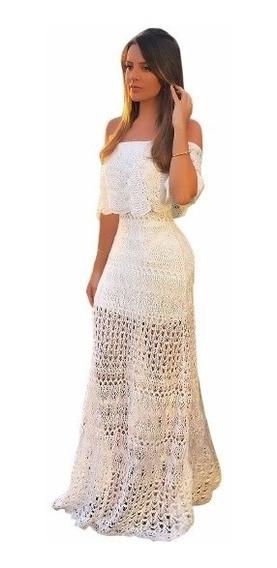 Vestido Para Casamento Feminino De Tricot Tricô