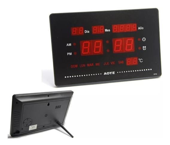 Reloj Digital Pared Led Fecha Temperatura
