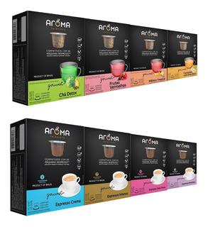120 Cápsulas Para Nespresso | Café & Chá | Cápsula Aroma.