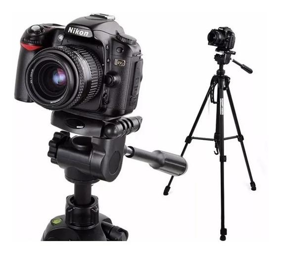 Tripé Profissional Fotográfico Universal Nikon Canon 1,80 Mt
