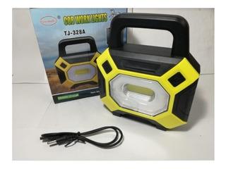 Reflector Led 30w Doble Luz Solar Portatil Pesca Camping