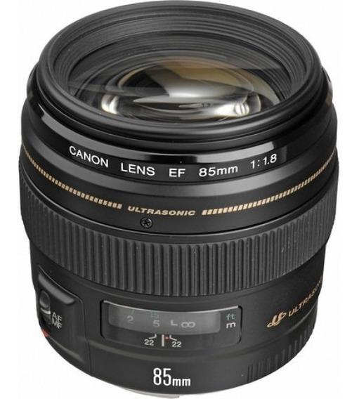 Lente Canon 85mm F/1.8 Usm Ef Garanti Brasil 12x S/juros,