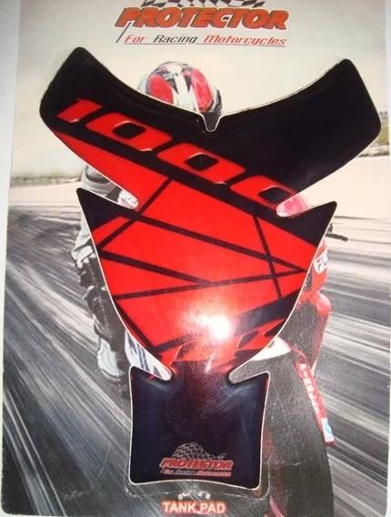 Adesivo Protetor De Tanque Honda 1000rr Preto Com Vermelho