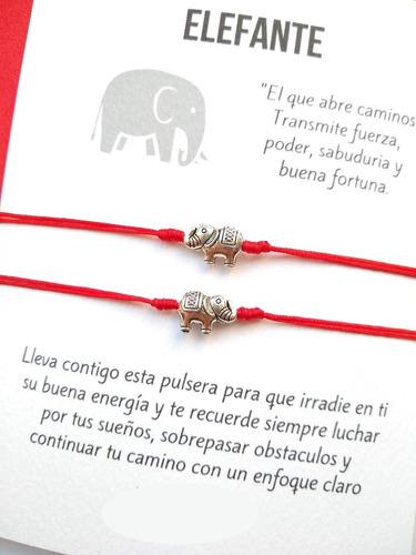 Manillas Pulseras De Elefante Hilo Rojo M1901