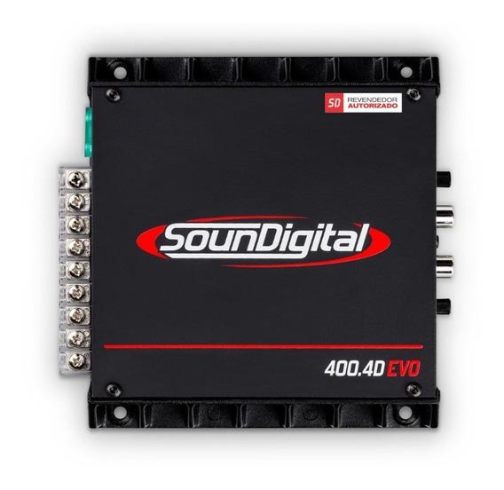 Modulo Amplificador Soundigital Sd400.4 Evo Brigde 4 Ohms