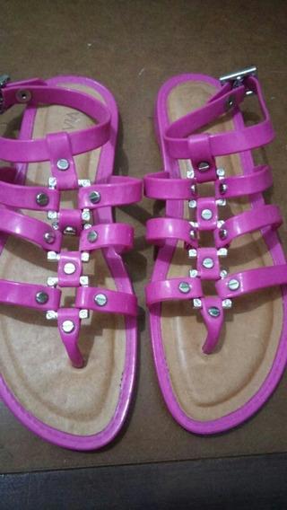 Sandália Via Uno Hot Summer Plástico Pink Prata Nova 36 Liqu