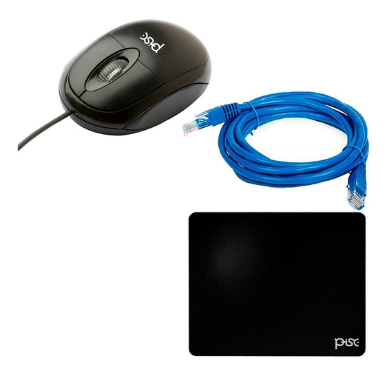 Mini Mouse Usb Notebook + Brinde Mouse Pad + Cabo De Rede