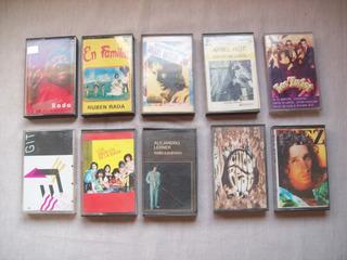 Lote De 9 Cassettes Originales De Rock Nacional