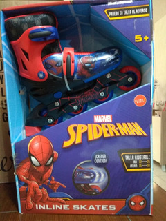 Patines En Linea Ajustable 22-25cm Spiderman Marvel