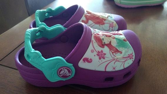 Sandália Crocs Princesa Ariel Disney Linda