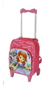 Mochila Escolar Infantil Personagem Princesa Sofia Rodinhas