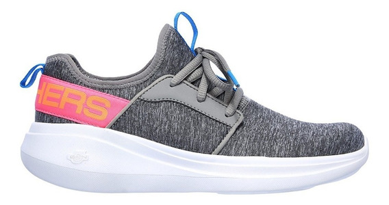 Skechers Zapatilla Running Mujer Go Run Fast Lively Gris Ras