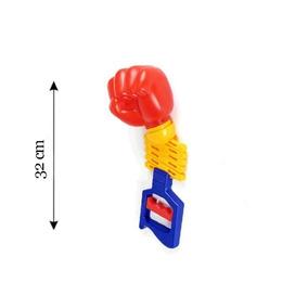 Mao Braço Bionico Infantil Brinquedo Boxe Vai Vem Plastico
