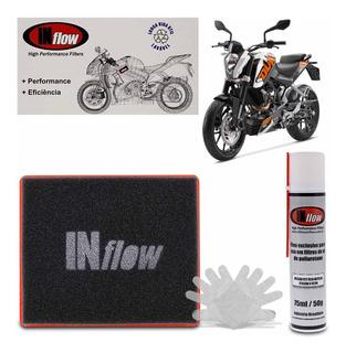 Filtro De Ar Esportivo Inflow Moto Duke 125 200 390 Mhpf4000