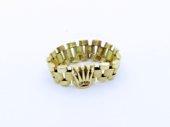 Anillo De Oro Macizo 14kt 2.9gr Rolex