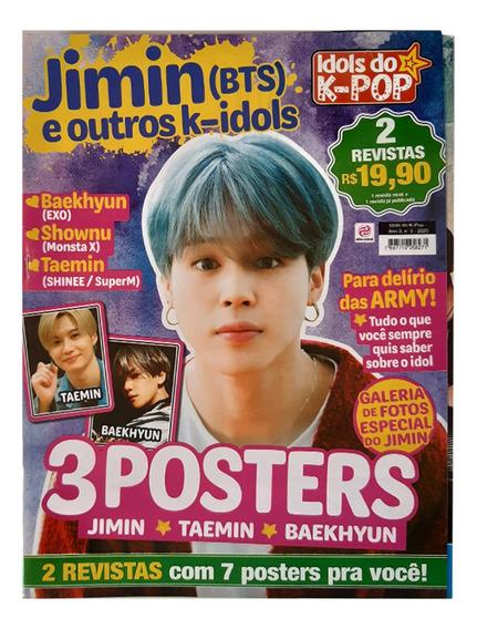 Jimin Bts, Revista Idols Kpop 7 Posters Em 2 Revistas +fotos
