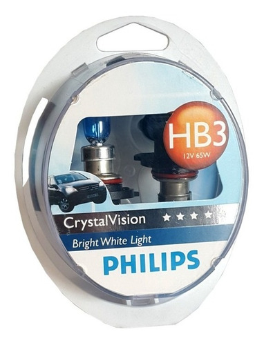 Imagen 1 de 1 de Lamparas Halogena 12v Hb3 Crystal Vision Philips - Cymaco