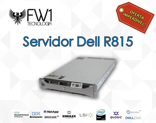 Servidor Dell R815 4x Octacore Amd 6134 / 3.6tb Hd 128gb Ram
