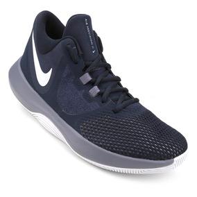 Tênis Nike Air Precision Ii - Marinho E Cinza + Brinde