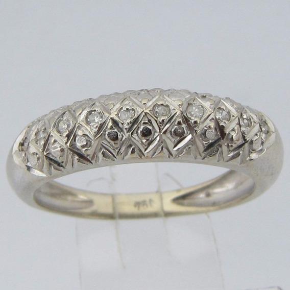 2719 Anel Ouro Branco 18k Diamante Li Gold
