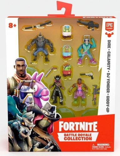 Imagem 1 de 3 de Fortnite Mini Bonecos 4 Personagens Com Acessórios - Fun