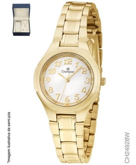 Relógio Champion Analógico Ch24928w Feminino + Semijoia