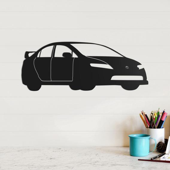 Quadro Decorativo Parede Veículos Honda Civic 02 30cm