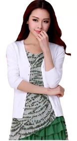 Cardigan Kit4 Casaquinho Liso Blusas De Frio Tricô Feminino