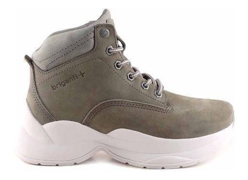 Borcegos Mujer Botas Zapatos Nobuk Briganti Goma - Mczp05247
