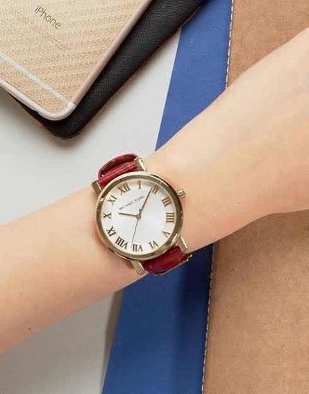 Relógio Michael Kors Mk2618 Feminino Pulseira De Couro