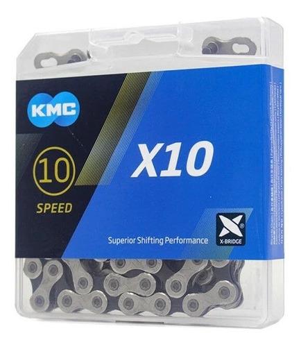 Imagem 1 de 3 de Corrente Kmc X10 Silver Prata 116l 10v Shimano Sram Mtb