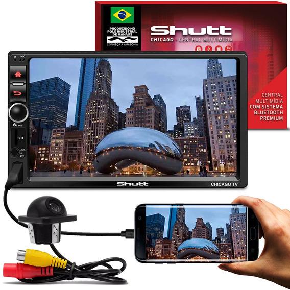 Central Multimídia Shutt Chicago Tv 7 Pol 2 Din + Câmera Ré