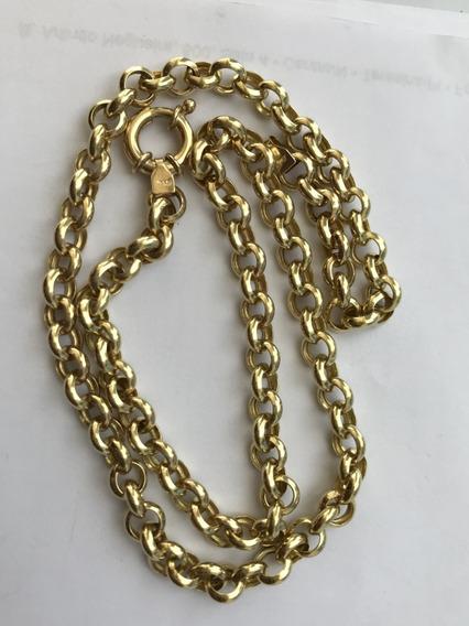 Colar Em Ouro 18k-750, Peso: 14,1 Gramas, 45cm