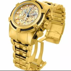 Relógio Invicta 12903 Reserve Skeleton B Ouro 18k (2anosgar)