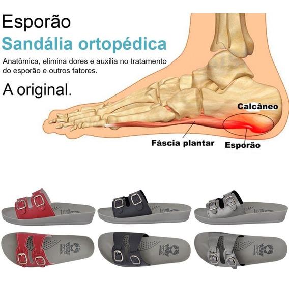 3 Pares Sandália Anatômica Ortopédica Para Esporão Calcâneo