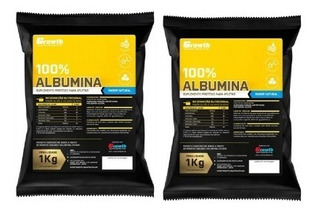 2 Albumina Pura Growth Supplements 1kg Cada Original