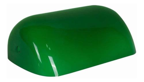 Carcasa Verde Lampara De Los Banqueros De Vidrio Sombra