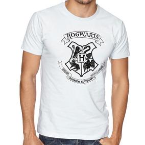 Camiseta Blusa Hogwarts Preto Harry Potter Filme Bruxo
