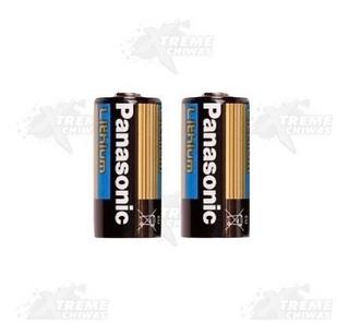 2 Pila Bateria Cr123a 3v Panasonic Gotcha Xtreme