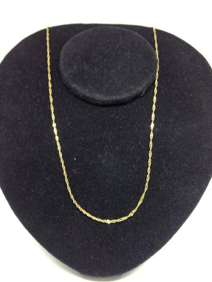 Cordão Masculino Dourado Folheado Ouro Amarelo 18k C1003