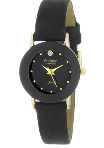 Relógio Feminino Armitron Diamante Acentuado 75/2447blk