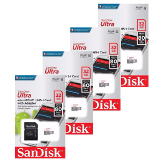 Kit 4 Unidades Cartão De Memória Micro Sd Ultra 32gb Sandisk