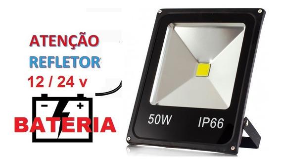 Refletor De Leds 12v 50w Energia Solar, Barcos Semi Novo
